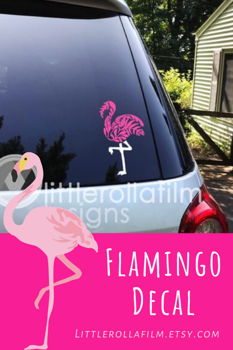 Flamingo Decal Vinyl Decal Of Flamingo In Floral Pattern Mother S Day Gift Flamingo Gift Car Decal Laptop Decal Tablet Decal In 2020 Flamingo Decal Flamingo Gifts Vinyl Decals