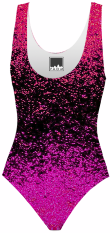 sparkly abstract ombre design in pink, red and black created by bunny noir | Print All Over Me