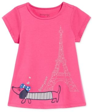 First Impressions Graphic-Print T-Shirt, Baby Girls (0-24 months), Only at Macy's - Pink 6-9 months