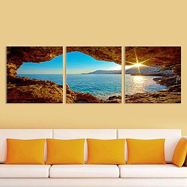 Paisaje Tres Paneles Horizontal Estampado Decoración de pared ...