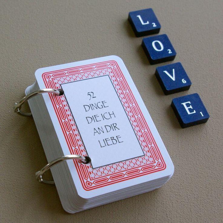 52 Dinge Die Ich An Dir Liebe Karten Kartenspiel Valentinstag Geschenk  Selber Basteln DIY Tutorial Anleitung