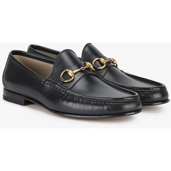e4ade8e28 Gucci 1953 Horsebit leather loafers (8.062.765 IDR) ❤ liked on Polyvore  featuring men's fashion, men's shoes, men's loafers, mens black loafers  shoes, ...