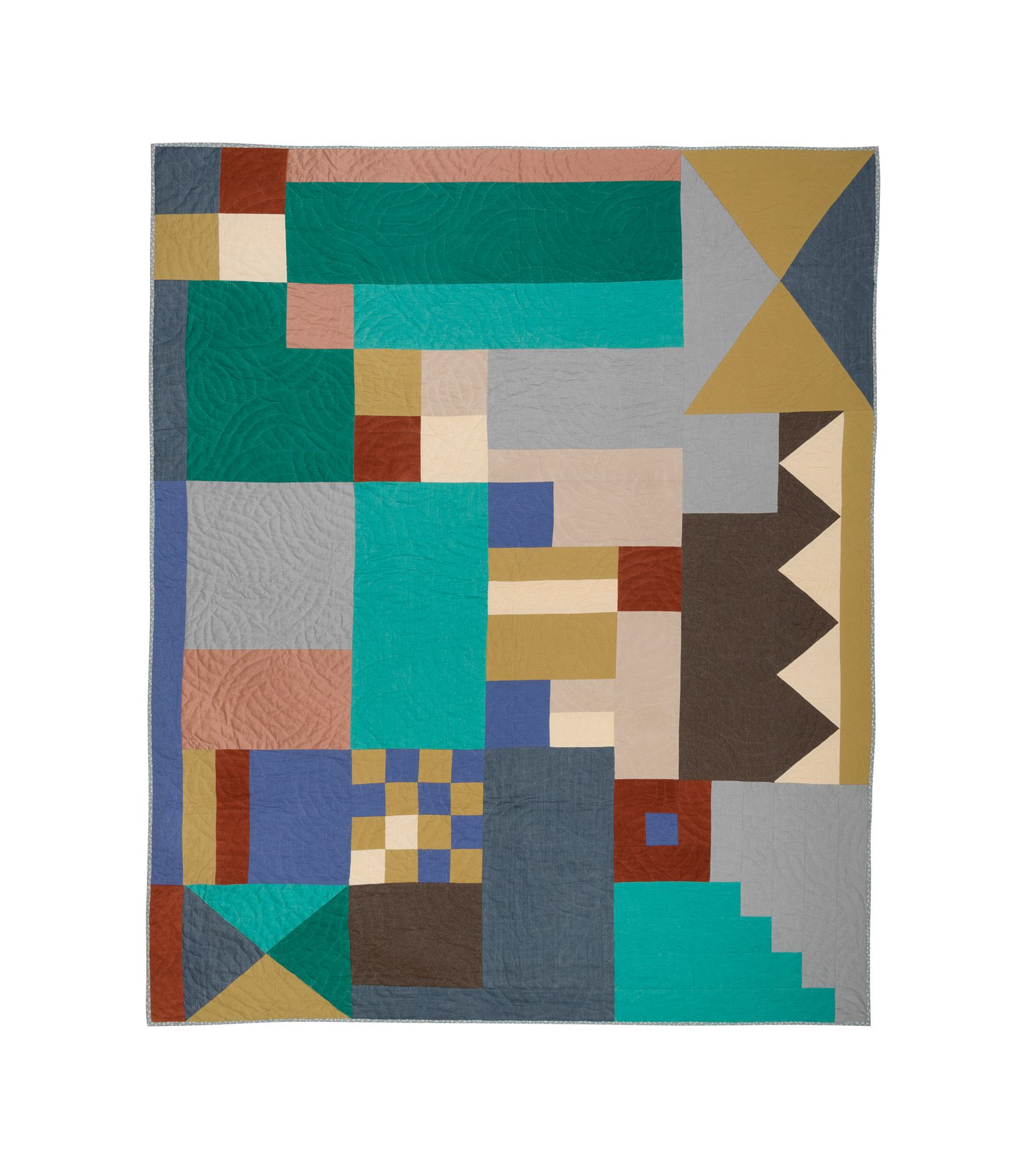 Dizengoff 過去のA.P.C.コレクションの生地、マルチカラーのコットンを使用したパッチワーク. 薄手の中綿入り. ハンドステッチ. ジェシカ・オグデン & ジャン・トゥイトゥによるデザイン. 数量限定. サイズ: 260 x 220 cm.