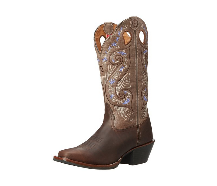7687716c1ce Tony Lama Women's Bridle Brown Shiloh 3R Wester Cowgirl Boots ...