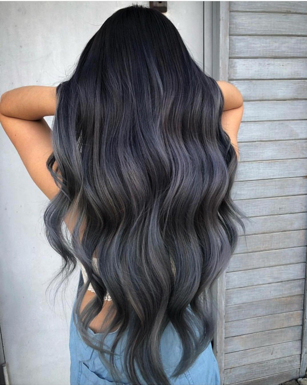 Pin By Hailey Puckett On Hair And Color Dark Ombre Hair Long Hair Color Grey Ombre Hair