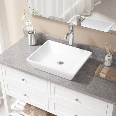 MRDirect Porcelain Rectangualr Vessel Bathroom Sink Sink Finish