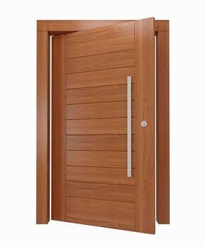 Solid wood pivoting door