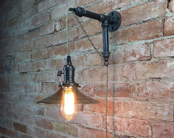 Die Brewers Vanity Light Ist Ein Industrieller Perfekt Fur Beleuchtung Um Ihre Bar Oder Mann Hohle Ba Wandbeleuchtung Glas Pendelleuchten Industrie Stil Lampen