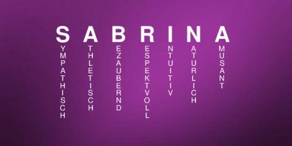 Sabrina Bedeutung