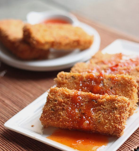 spiced tofu katsu - use unsweetened almond milk instead of egg?
