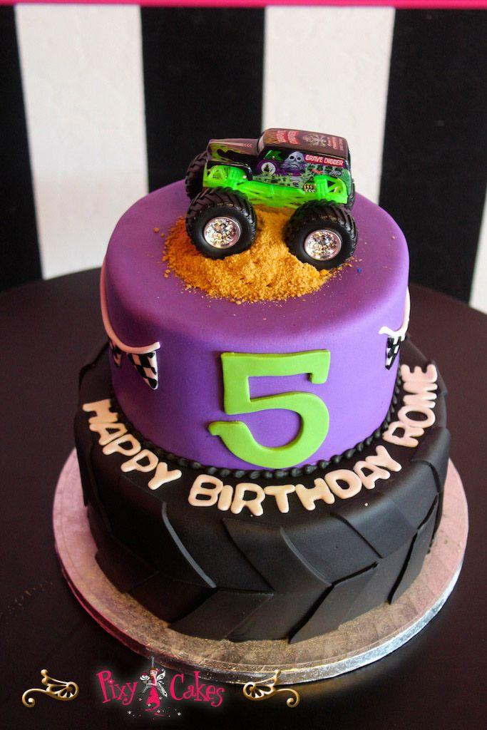 Boys Purple Birthday Cake Birthday Cake Boy 2 Tier