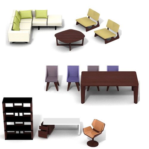 Brinca Dada Dollhouse Furniture Modern