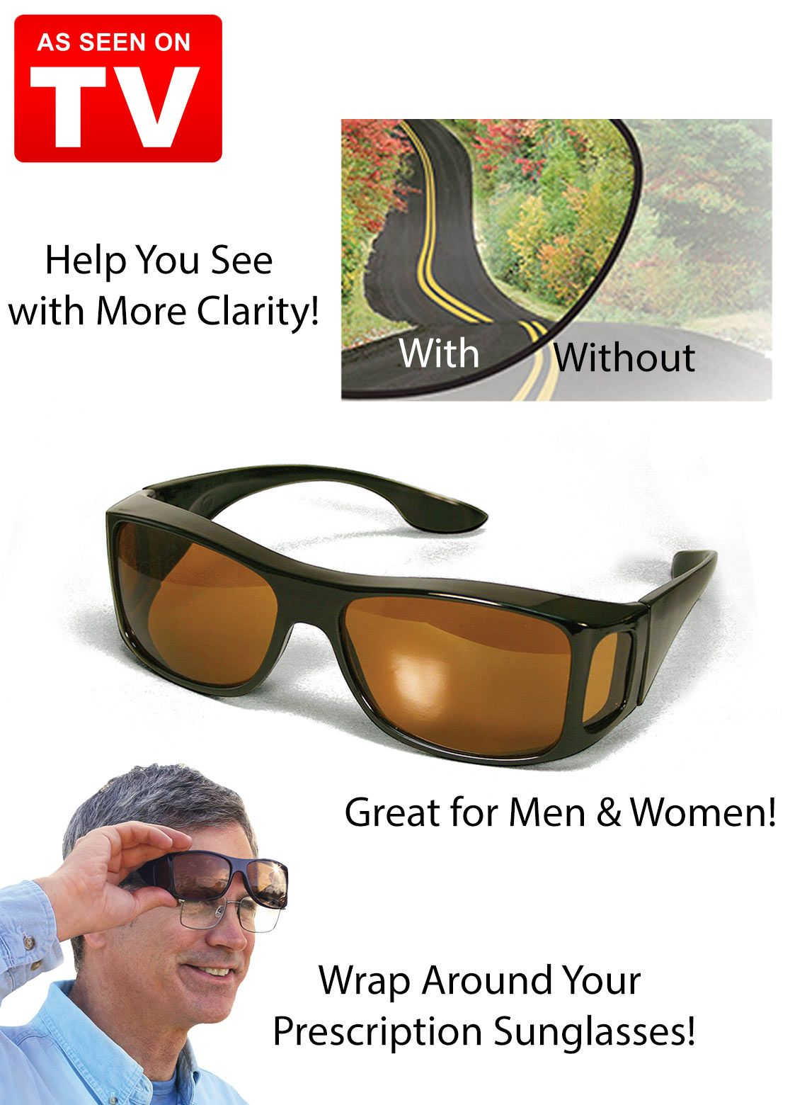 f56169d8b7 HD Vision WrapArounds Glasses - As Seen on TV  9.99 05 30 2015