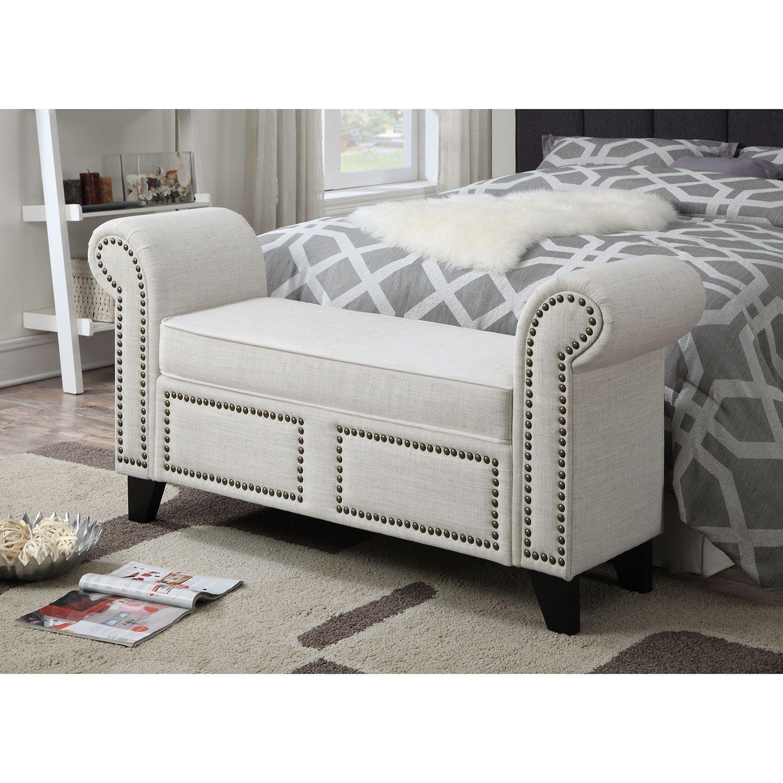 Best Carole Bench Value City Furniture Upholstered Bedroom 400 x 300