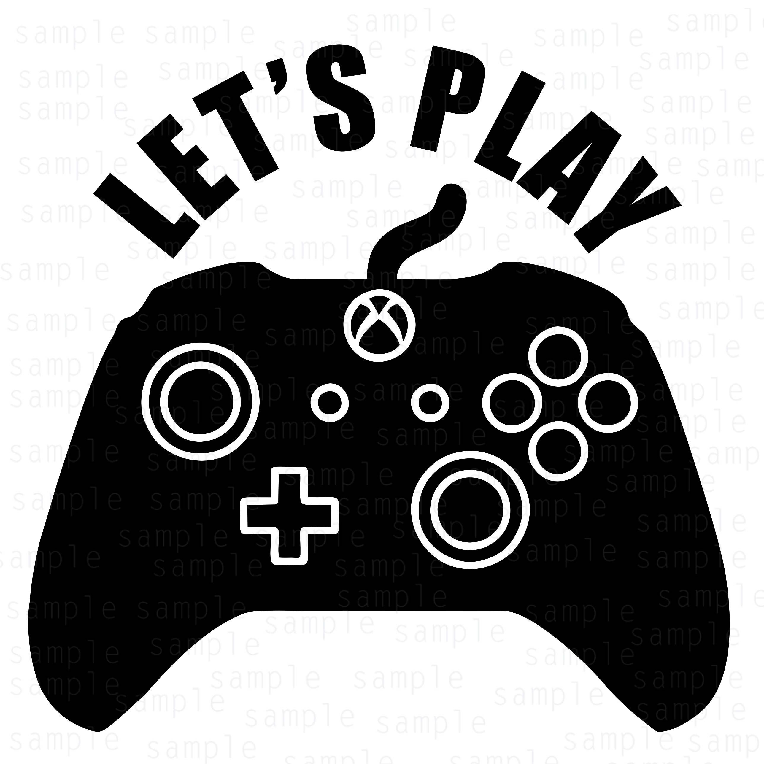 Let's play, Xbox Controller svg, xbox svg, controller svg