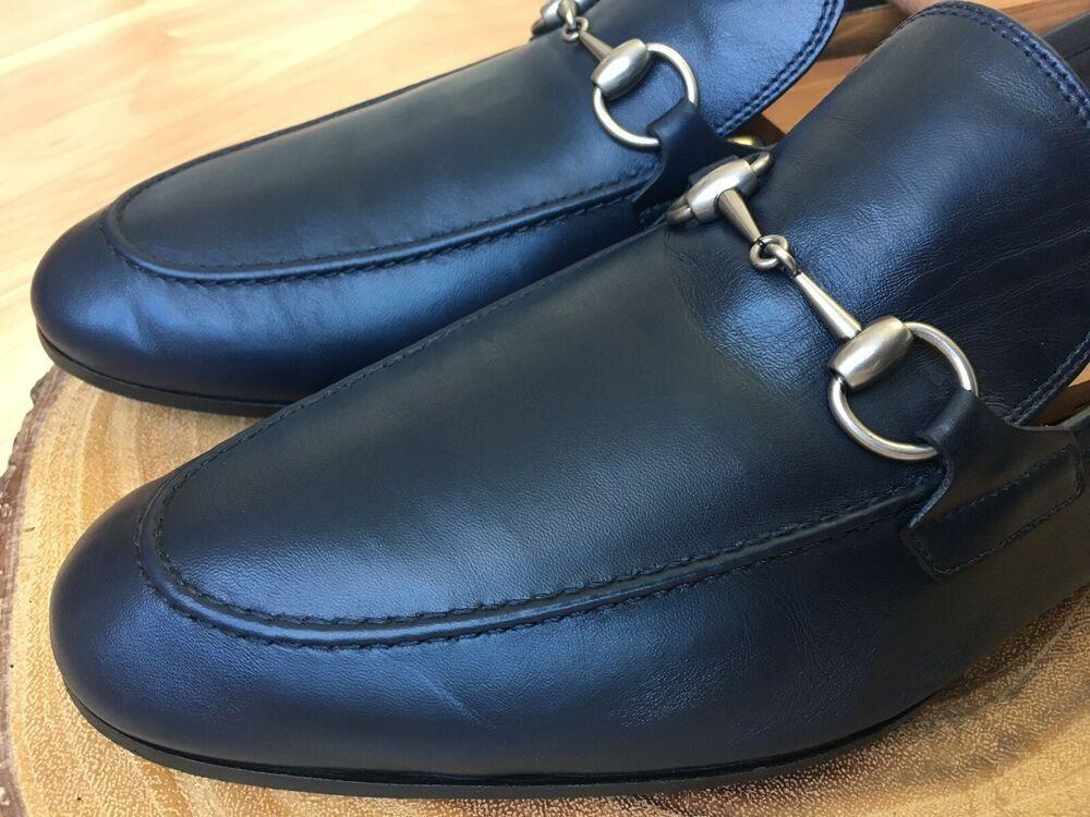9517b34f13f eBay  Sponsored GUCCI  Jordaan  Horsebit Loafer Blue Style 406994 Sz 10 UK    10.5 - 11 US