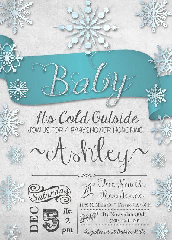 winter wonderland baby shower invites