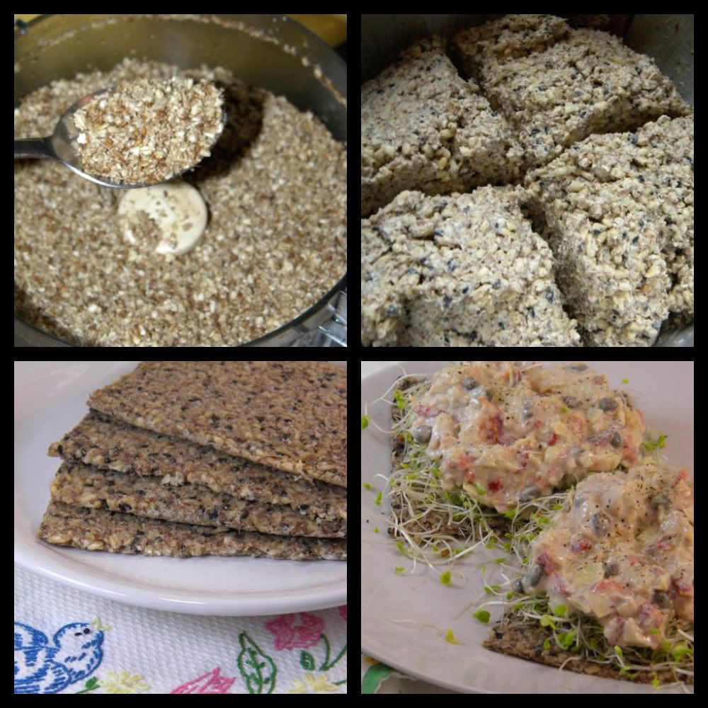 Easy Raw Vegan Flatbread Soaked Oat Groats Flax And Water