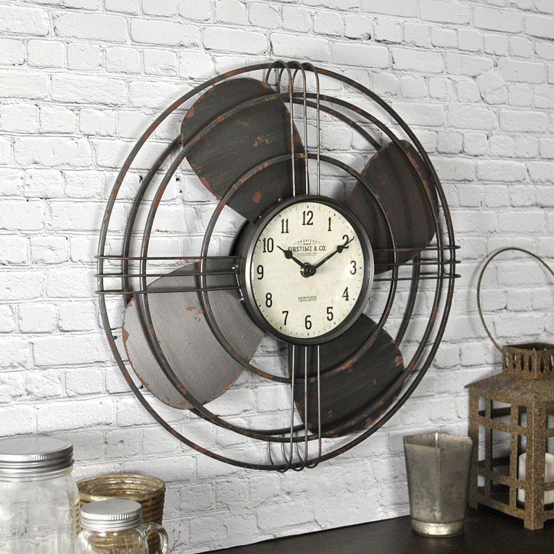 Firstime Vintage Fan Wall Clock Vintage Fans Wall Fans Unique Wall Clocks