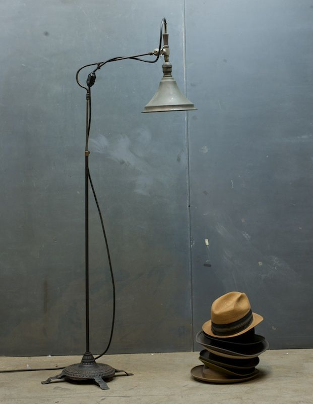 late victorian articulated floor lamp 20th century vintage industrial modern fifty home. Black Bedroom Furniture Sets. Home Design Ideas