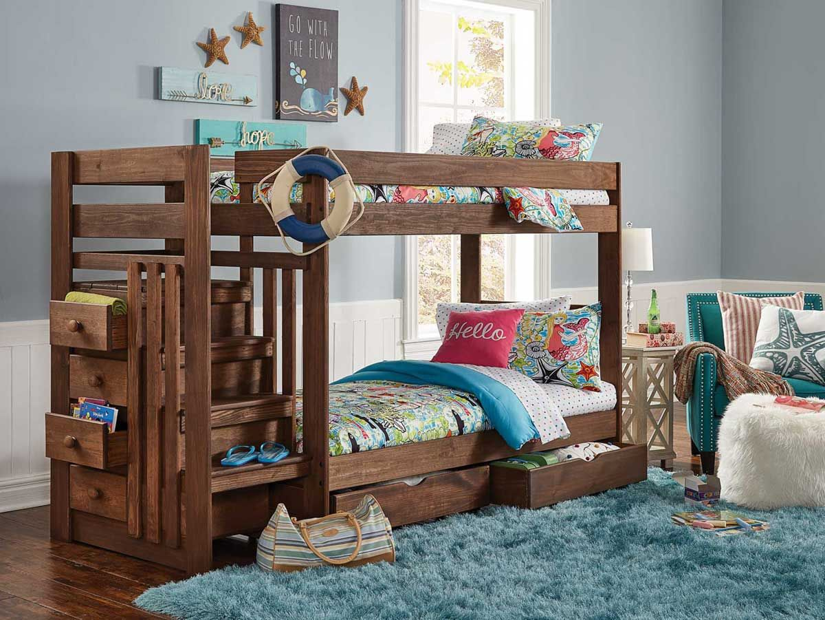 Baylee twin over twin stairbed Under bed storage, Home
