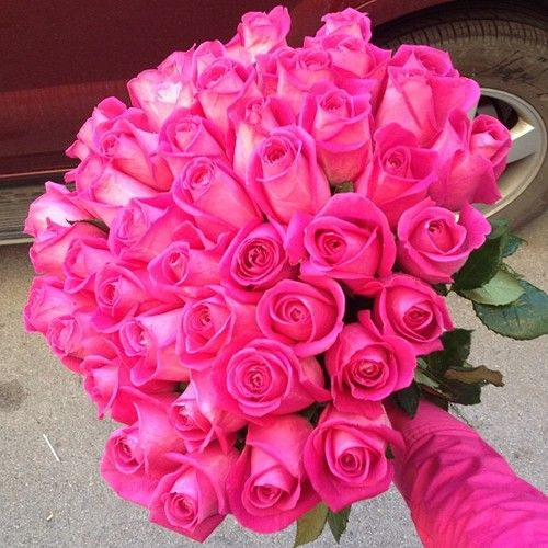Pink Color Colours With Images Pink Rose Bouquet Pink