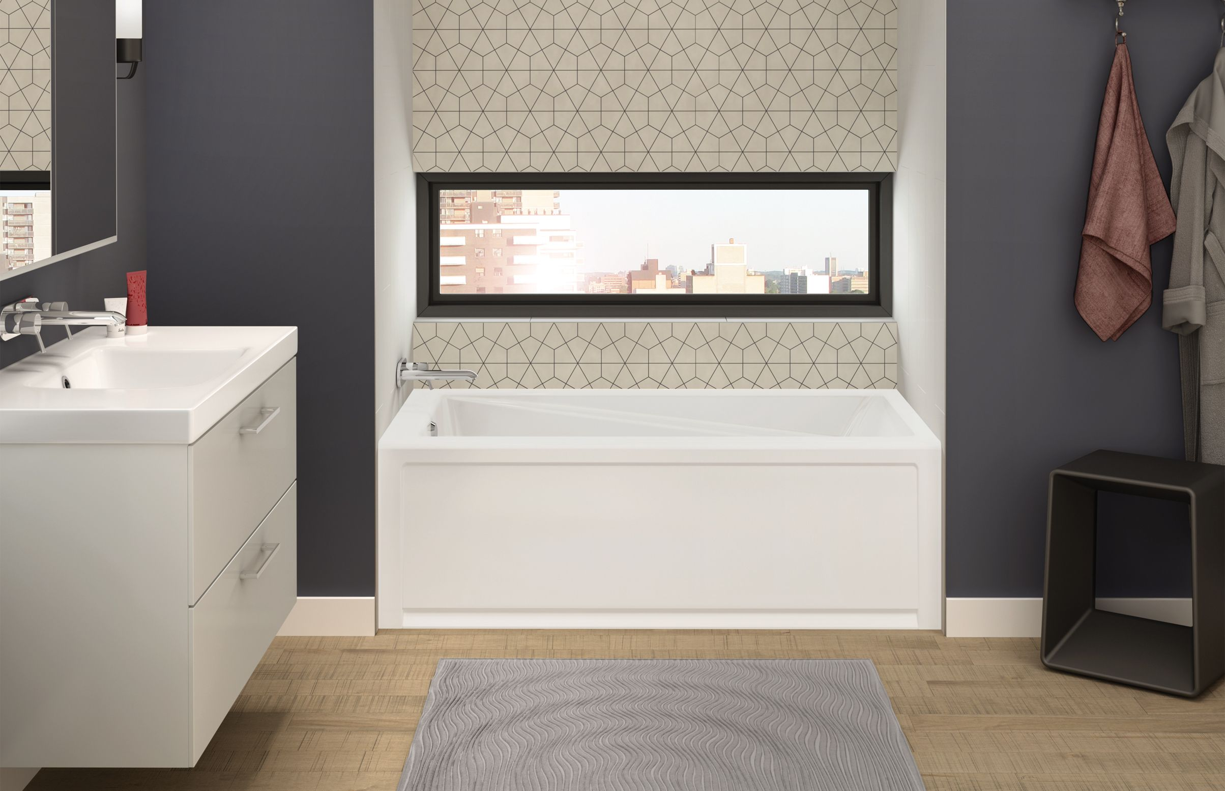 New Town (IFS) Alcove bathtub - Advanta by MAAX | Bathroom ...