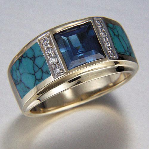 Turquoise Ring RANDY POLK DESIGNS (Spiderman