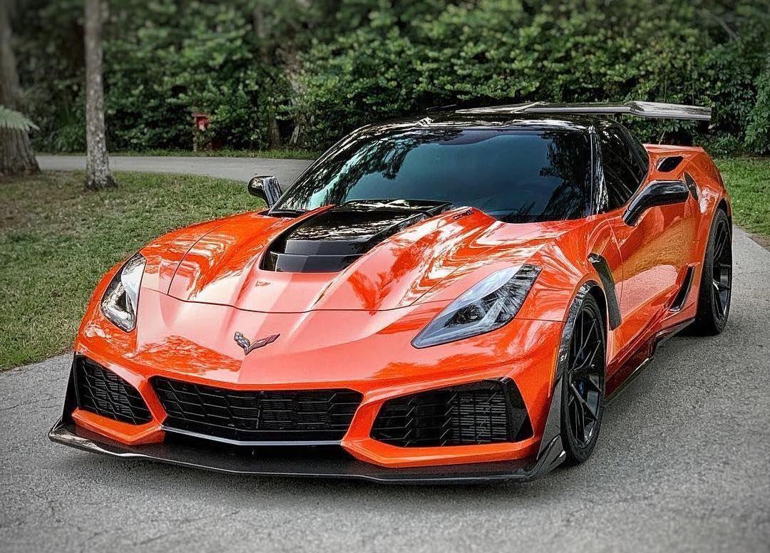 Matt S Orange C7 Corvette Zr1 On Forgeline One Piece Forged