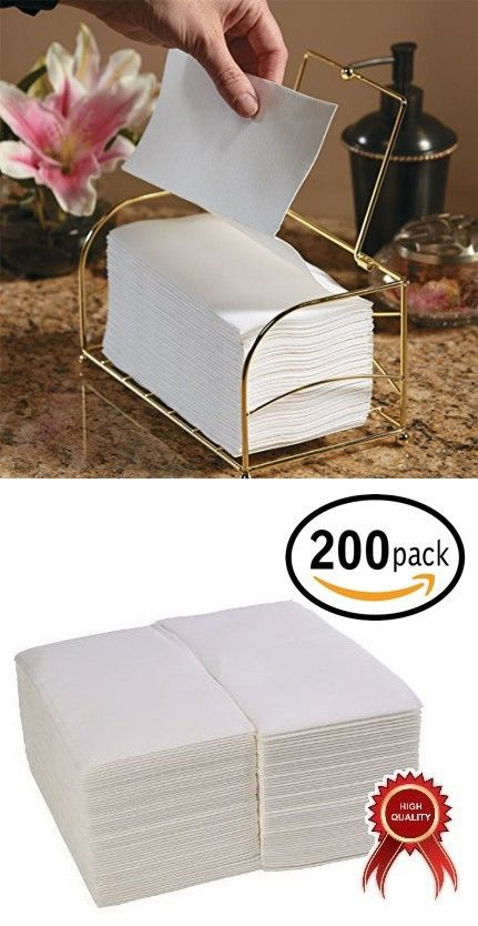 200 Pack Linen Feel Guest Towels Disposable Cloth Like Tissue