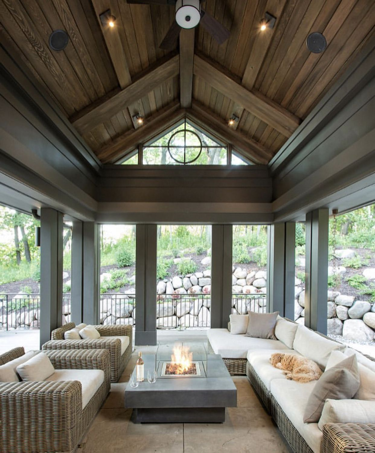 Outdoor Sitting Area Extension Home Porch Design My Dream Home