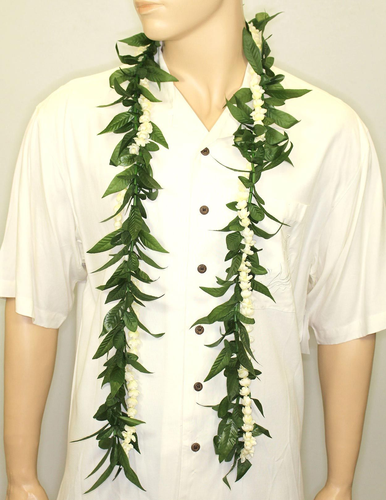 Check Out The Deal On Silk Maile Style Ti Leaf And Pikake Lei Open