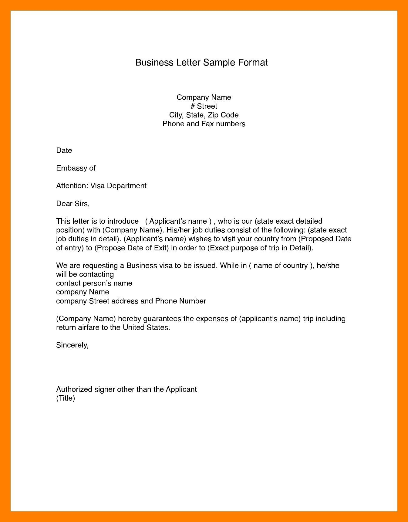 Business Letter Format Word (14) in 2020 Business letter