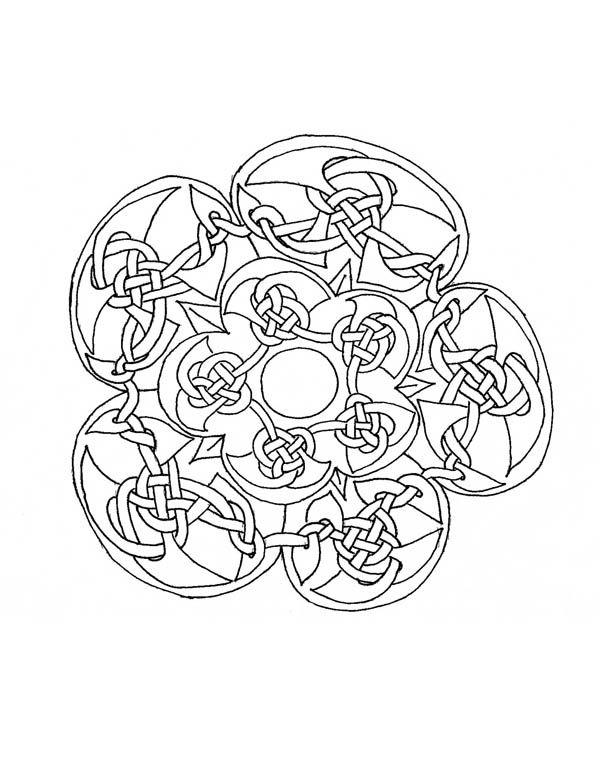 free printable mandala coloring pages mosaic beautiful celtic mandala mosaic coloring page - Free Mosaic Coloring Pages