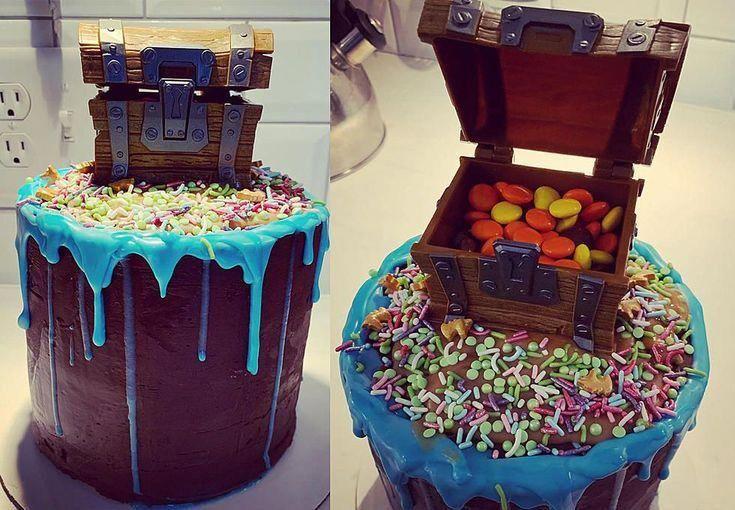 Photo of How To Make A Fortnite Reese's Pinata Birthday Cake  #birthday #fortnite #pinata…