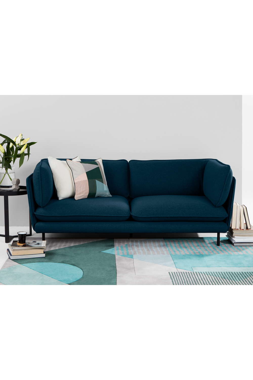 Wes 3 Sitzer Sofa Blaugrun Teal Sofa 3 Seater Sofa Sofa Design