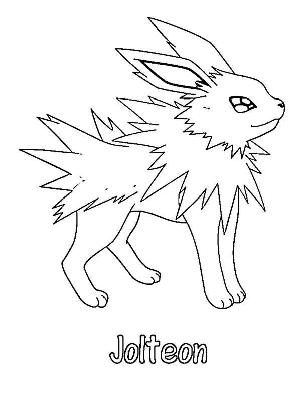 pokemon coloring pages dragonite. Pokemon Coloring Pages Jolteon Free Download http procoloring com