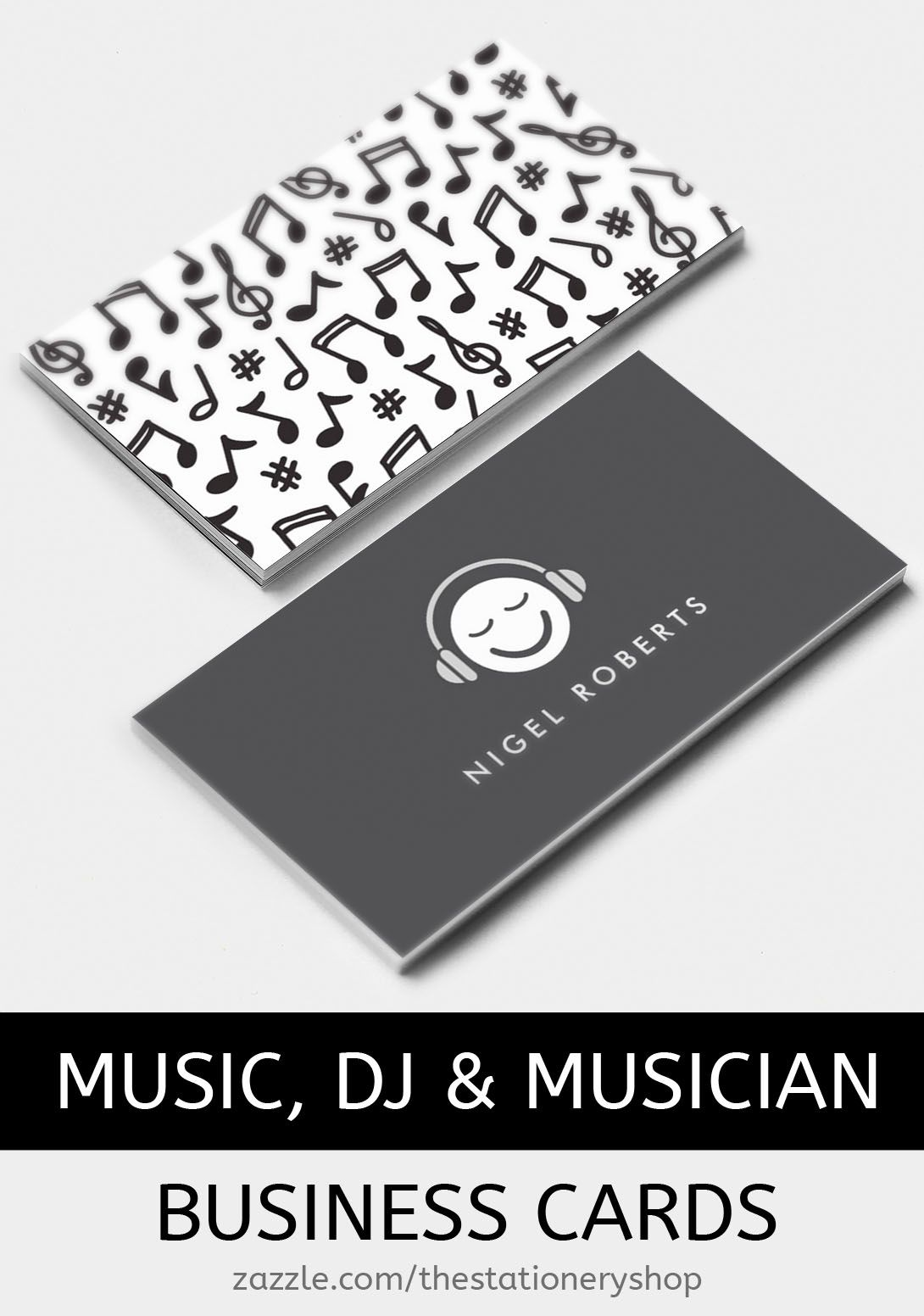 Music business cards from the stationery shop zazzle ideal for music business cards from the stationery shop zazzle ideal for djs musicians reheart Choice Image
