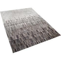 Teppich Leder helles Beige/dunkelbraun 140 x 200 cm Hinis Beliani #onlineportfolio