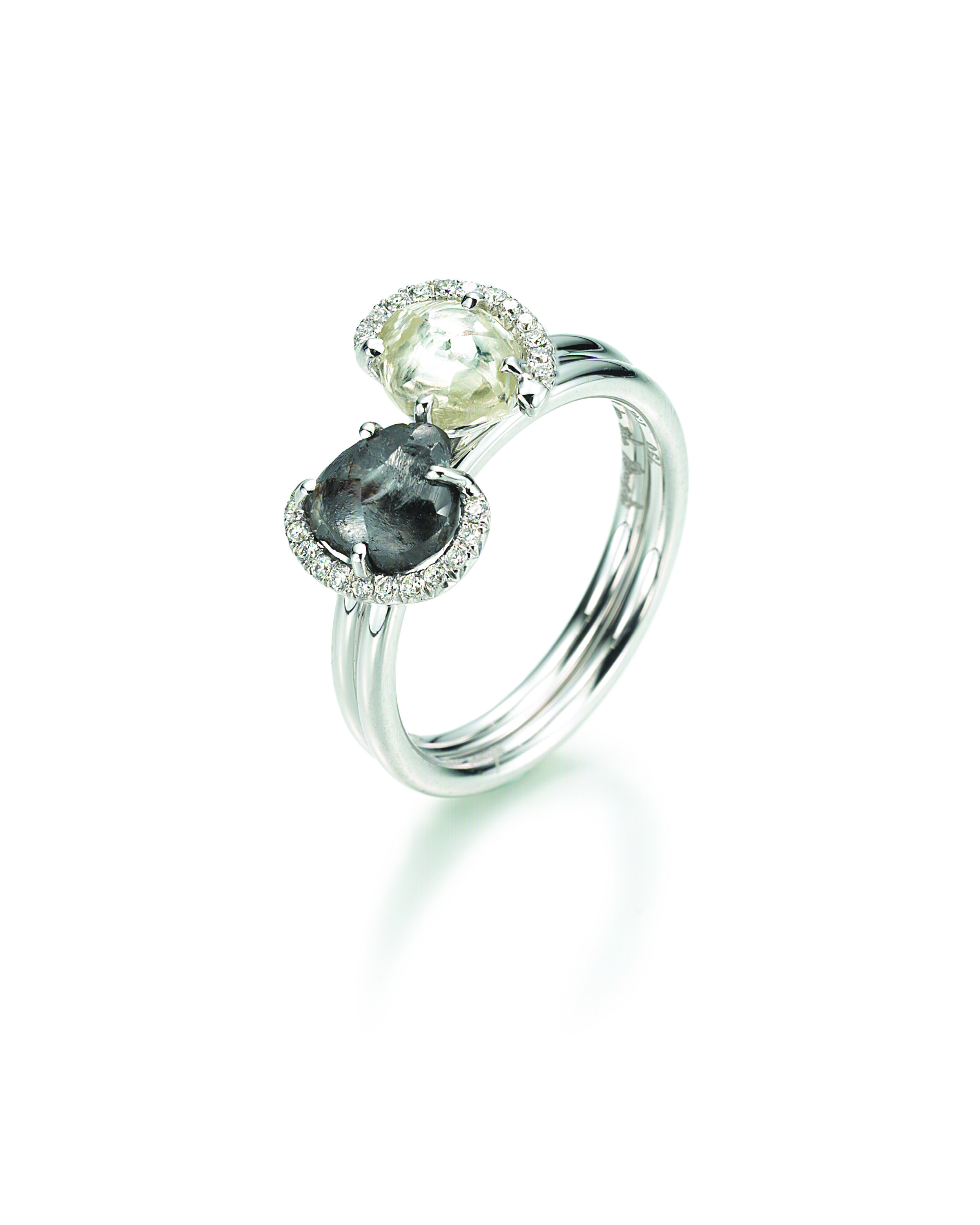 ring by anniversary vermeil product rings gold birthstone original rough embers april diamond