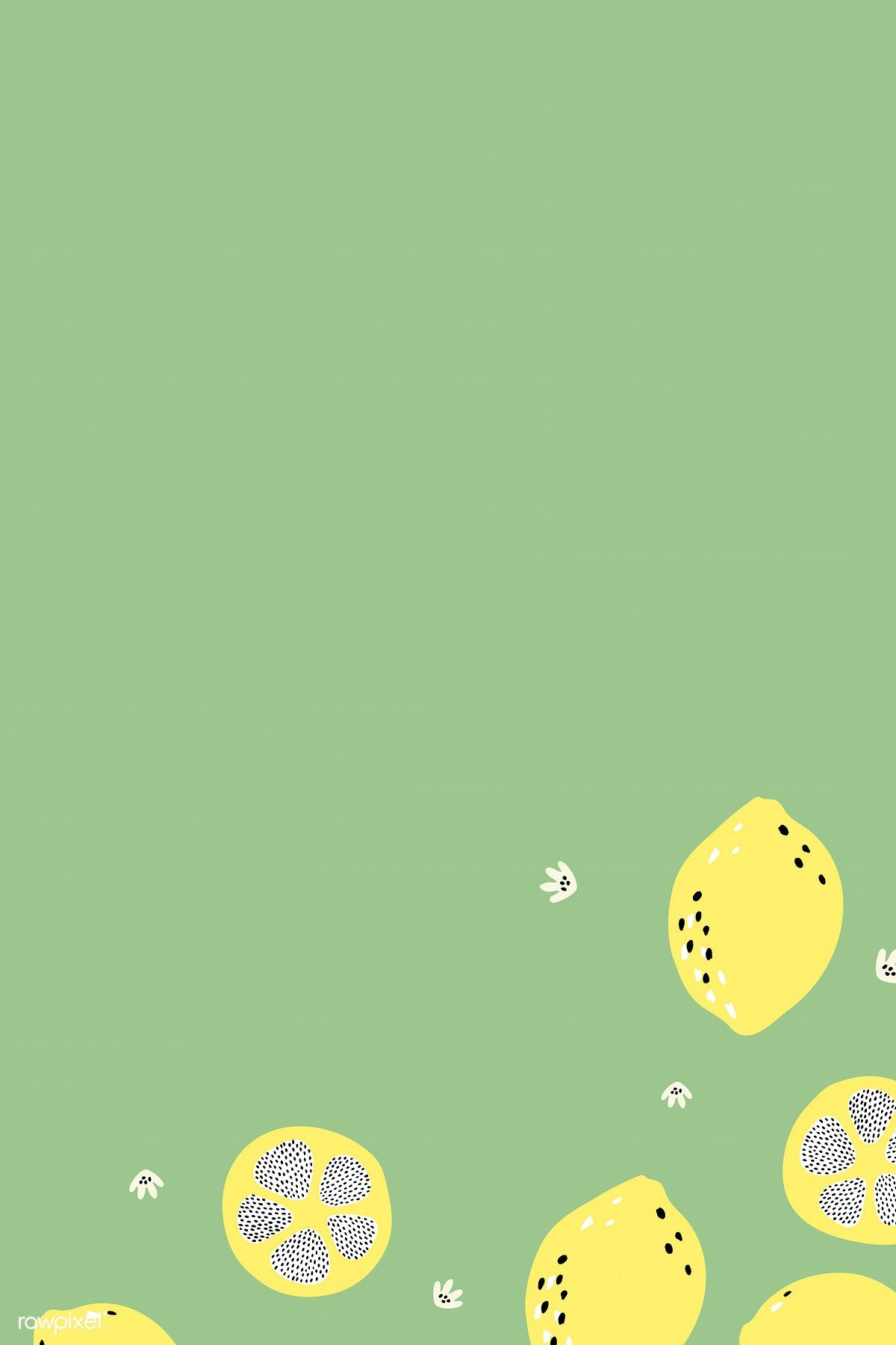 Download premium vector of Lemon on a green background vector 893024