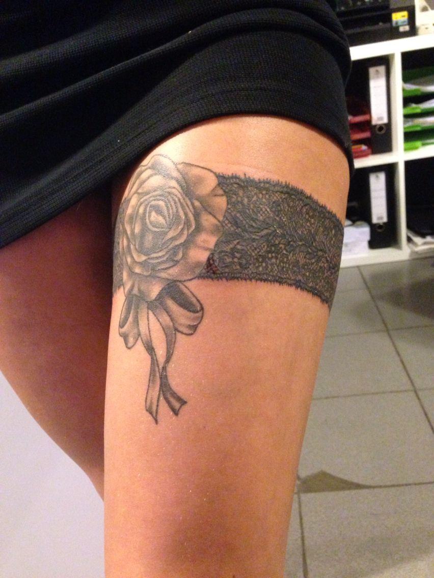 garter tattoo templates - lace garter tattoo kantenband my own tattoowork