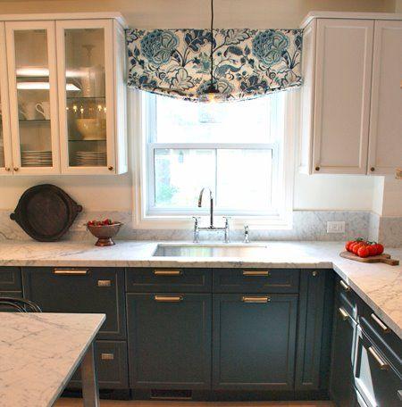 Stunning Kitchen Makeover Kitchen Window Treatments Diy Kitchen Window Treatments Home
