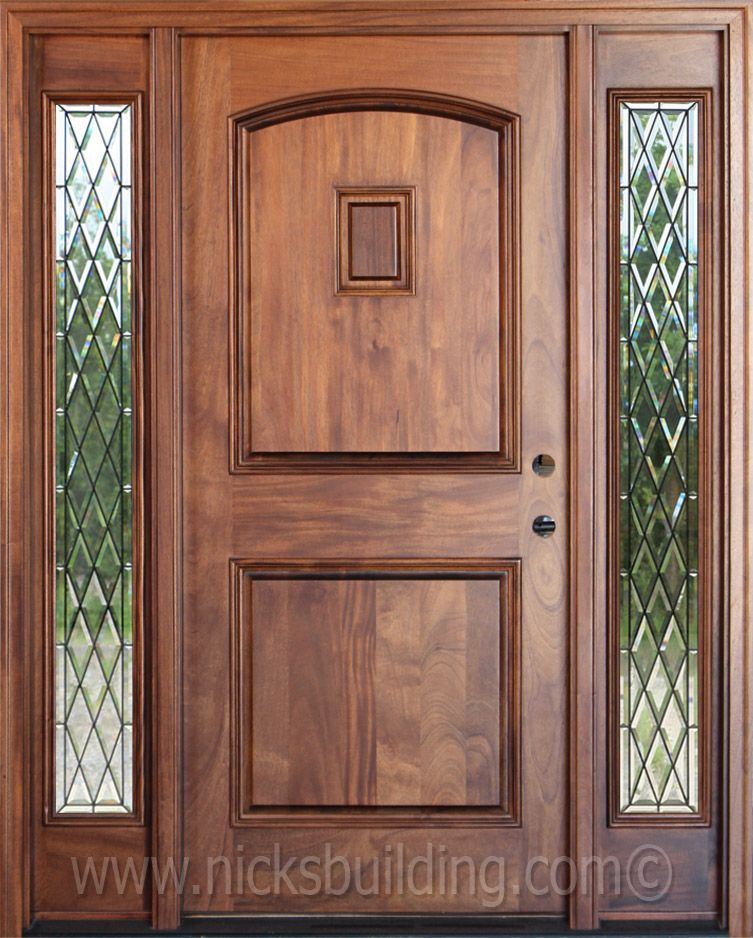 Door Color chestnut stain color on a mahogany entrance door - bought at www
