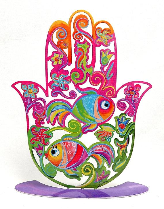 Hamsa Hand Of Fatima Good Luck Amulet Car Bumper Sticker 5/'/' or 6/'/' 3/'/'