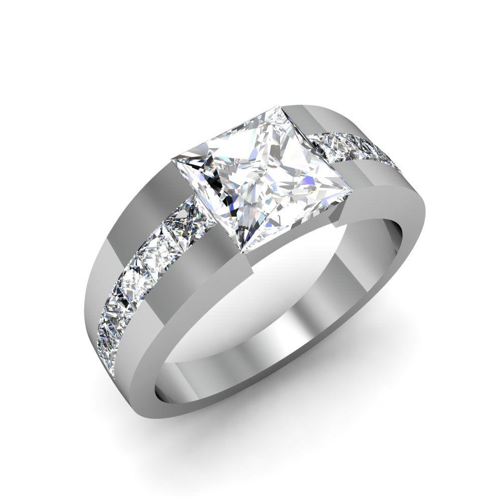50+ Princess cut diamond wedding ring collection ideas