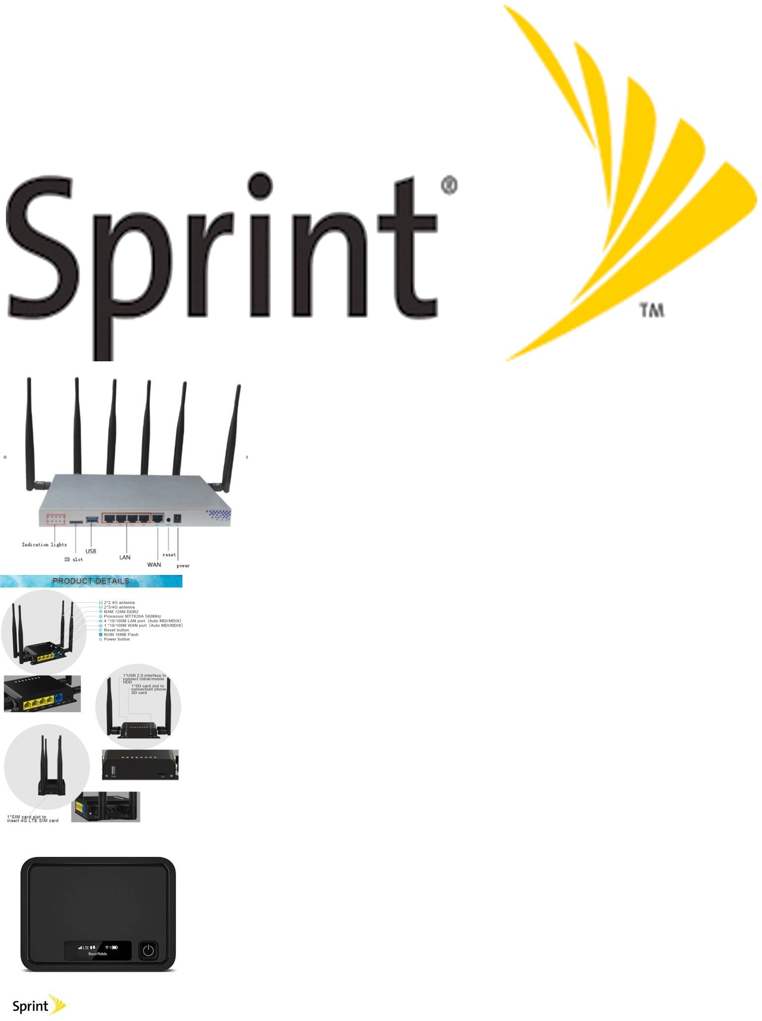 Mobile Broadband Devices 175710: Sprint Truly Unlimited 4G Lte Reg
