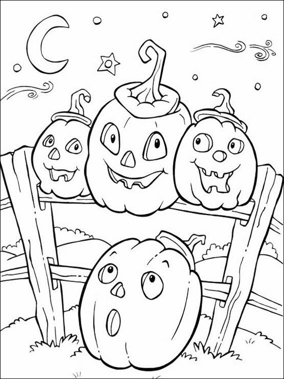 Printable coloring pages for kids Halloween 55 Coloring pages for