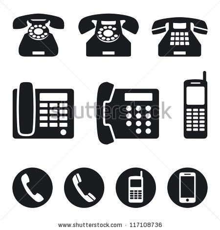 The Sheer Number Of Possible Ways To Represent A Telephone Is Overwhelming However I Think That The Style That Has A Phone Icon Vector Illustration Phone Logo