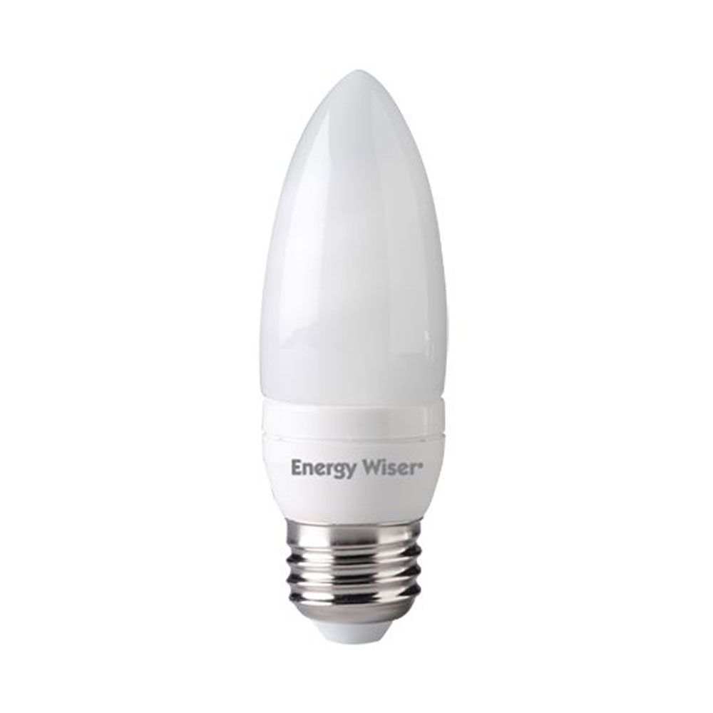 7w Cfl B10 Torpedo 2700k E26 120v Compact Fluorescent Chandelier Bulb Sold As 12 Fluorescent Light Fluorescent Lighting